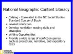 national geographic content literacy