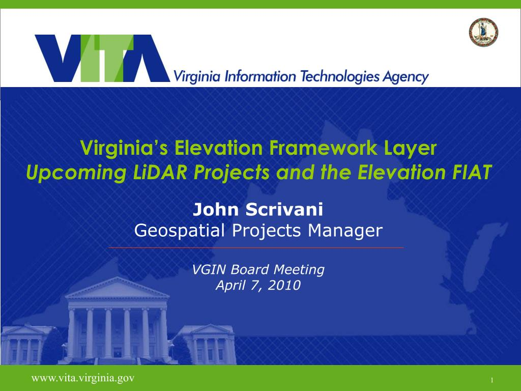 virginia s elevation framework layer upcoming lidar projects and the elevation fiat l.