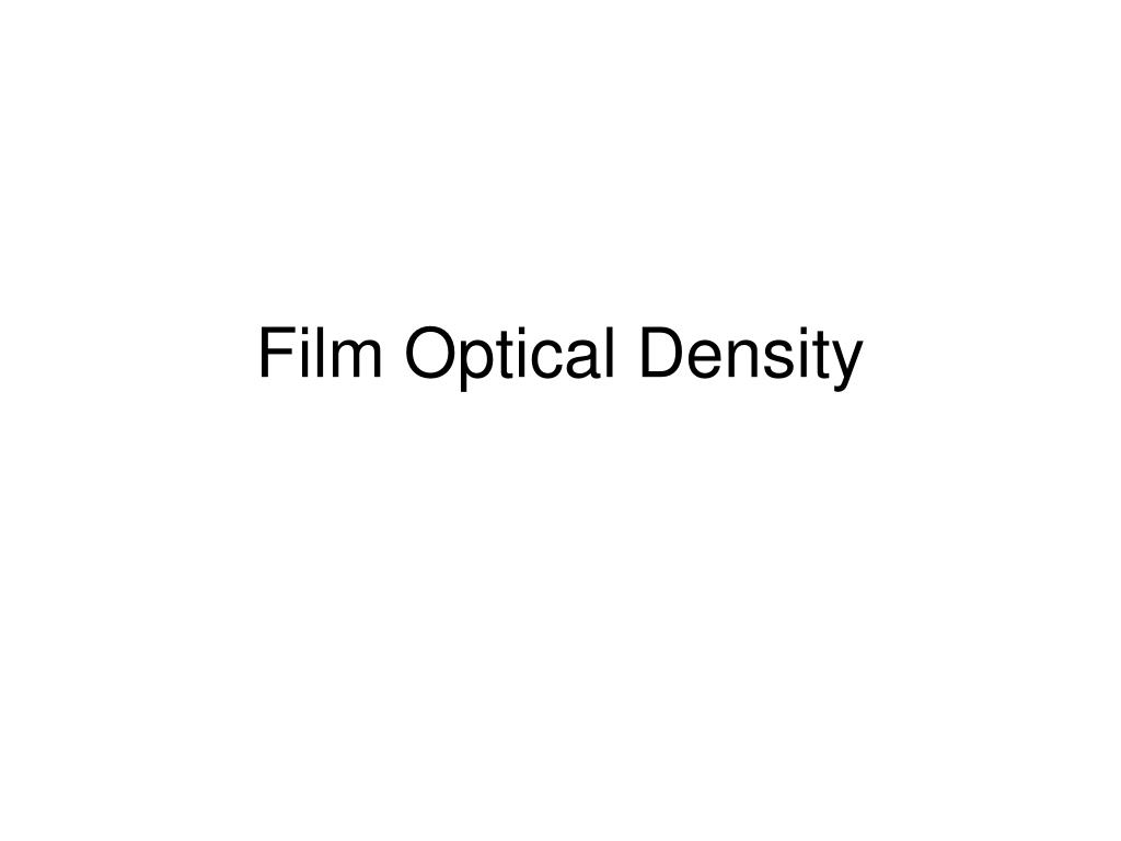 film optical density l.