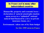 in france and in many other industrialised countries