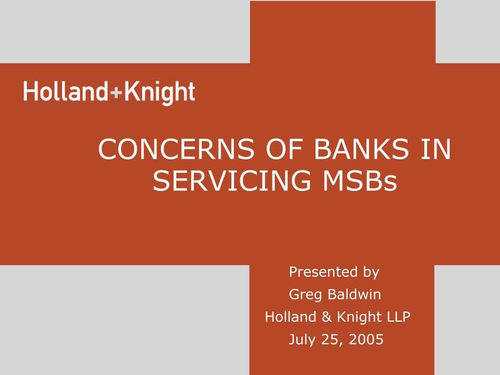 presented by greg baldwin holland knight llp july 25 2005 l.