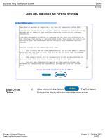 efps on line off line option screen14