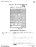 efps online tax return form screen