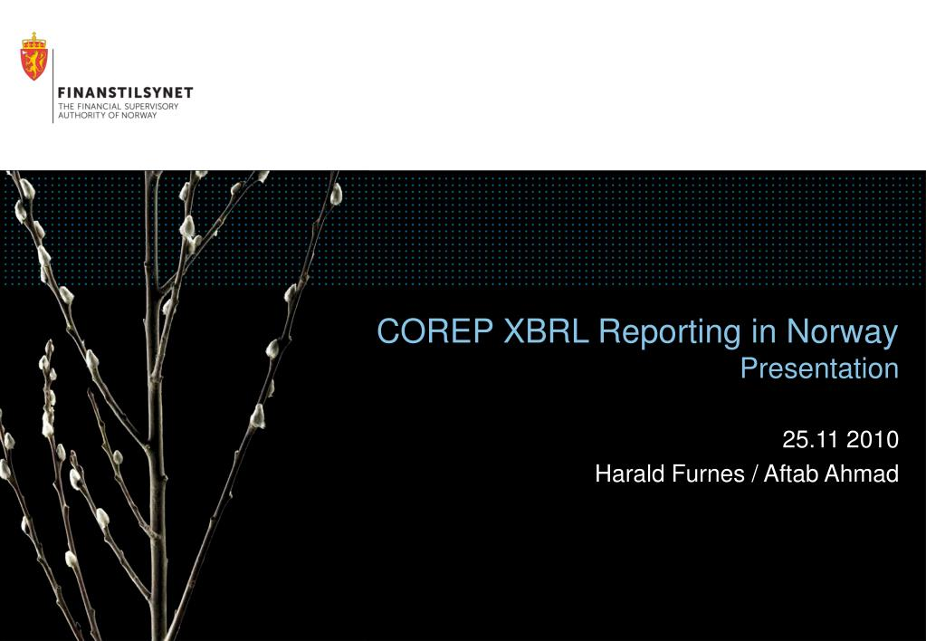 corep xbrl reporting in norway presentation l.