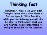 thinking fast
