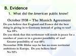 b evidence