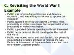c revisiting the world war ii example
