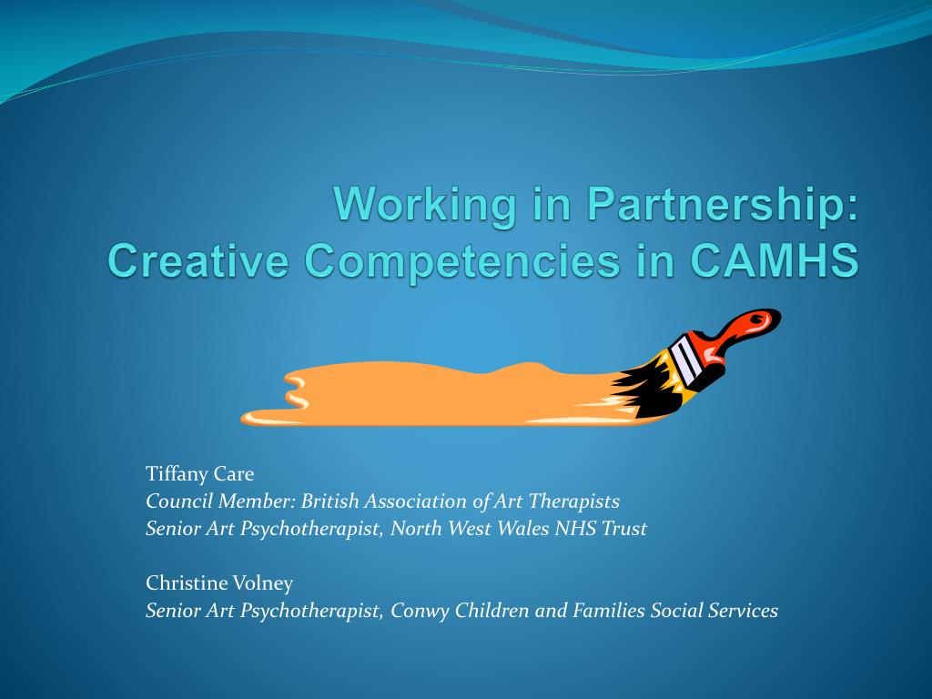 working in partnership creative competencies in camhs l.