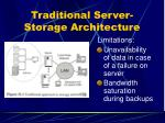 traditional server storage architecture