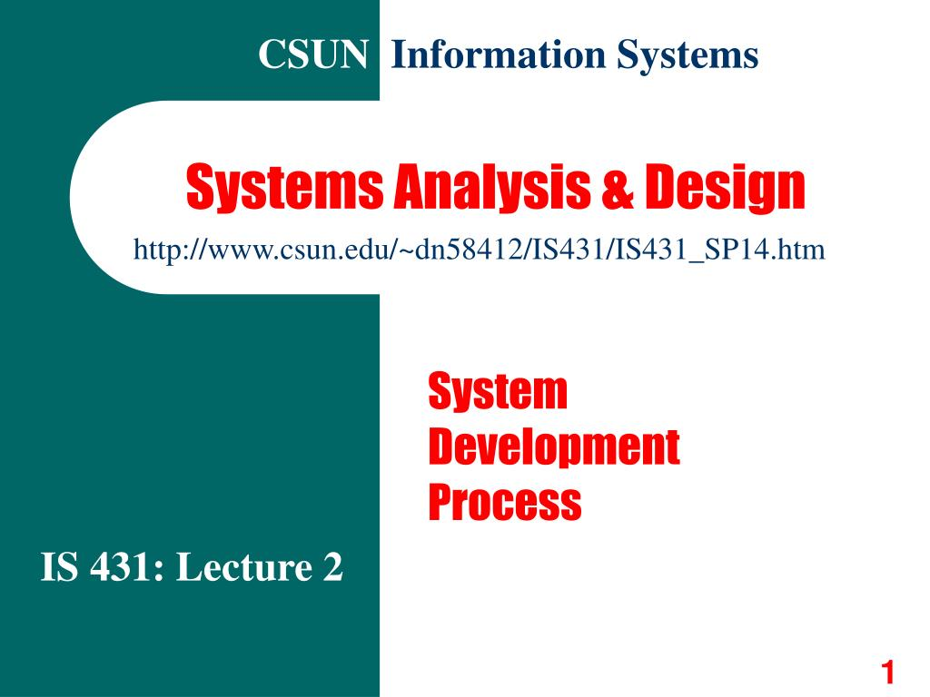 systems analysis design l.