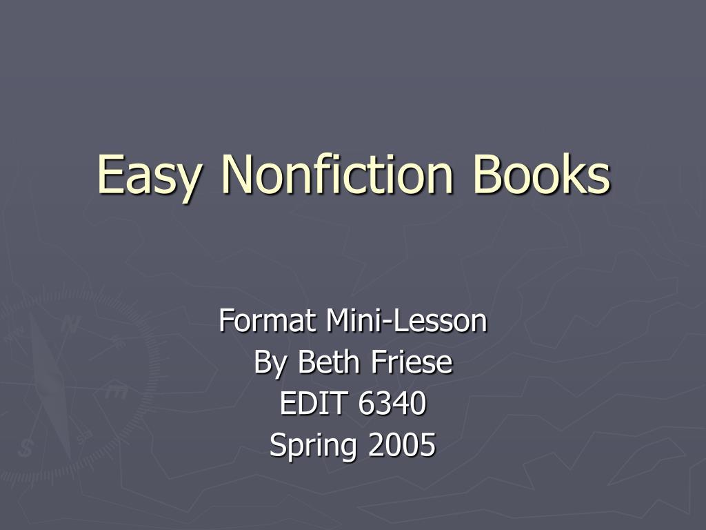 easy nonfiction books l.