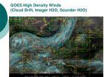 goes high density winds cloud drift imager h2o sounder h2o
