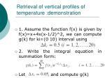 retrieval of vertical profiles of temperature demonstration36