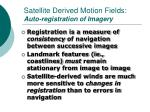 satellite derived motion fields auto registration of imagery