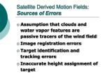 satellite derived motion fields sources of errors
