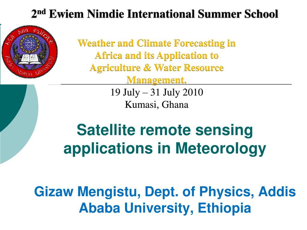 satellite remote sensing applications in meteorology l.