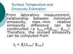 surface temperature and emissivity estimation24