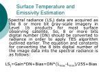 surface temperature and emissivity estimation26