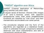 tamsat algorithm over africa