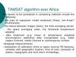 tamsat algorithm over africa52