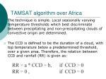 tamsat algorithm over africa53