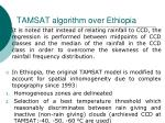 tamsat algorithm over ethiopia