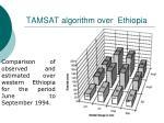 tamsat algorithm over ethiopia56