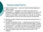 various cloud forms