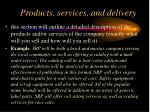 products services and delivery