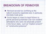 breakdown of pennoyer