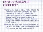 hypo on stream of commerce