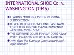 international shoe co v washington 1945