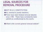 legal sources for removal procedure
