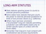 long arm statutes