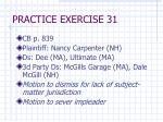 practice exercise 31