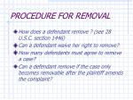 procedure for removal
