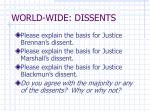 world wide dissents