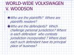 world wide volkswagen v woodson