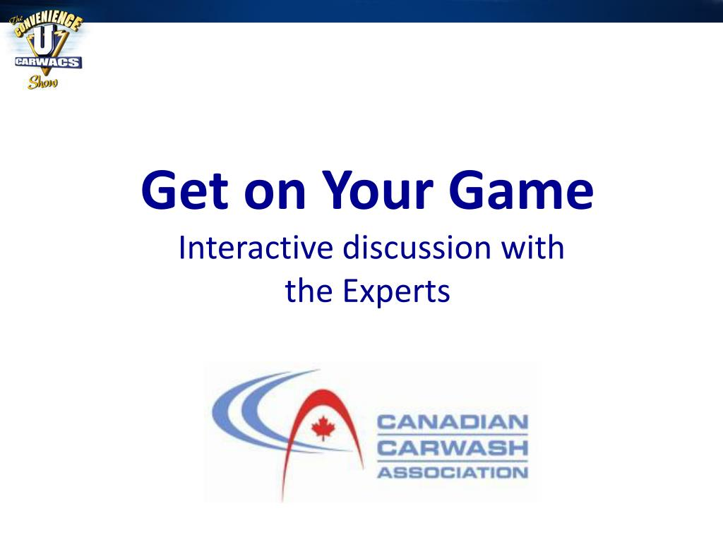 get on your game interactive discussion with the experts l.