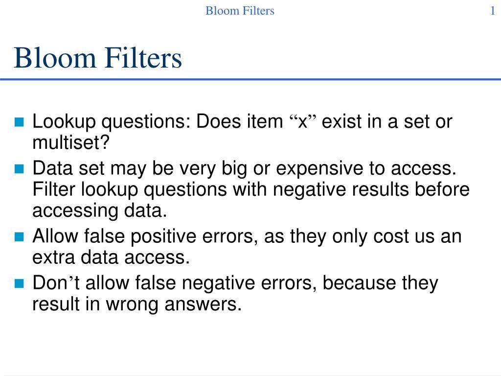 bloom filters l.