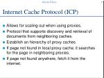 internet cache protocol icp