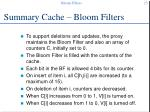 summary cache bloom filters