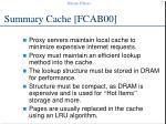 summary cache fcab00