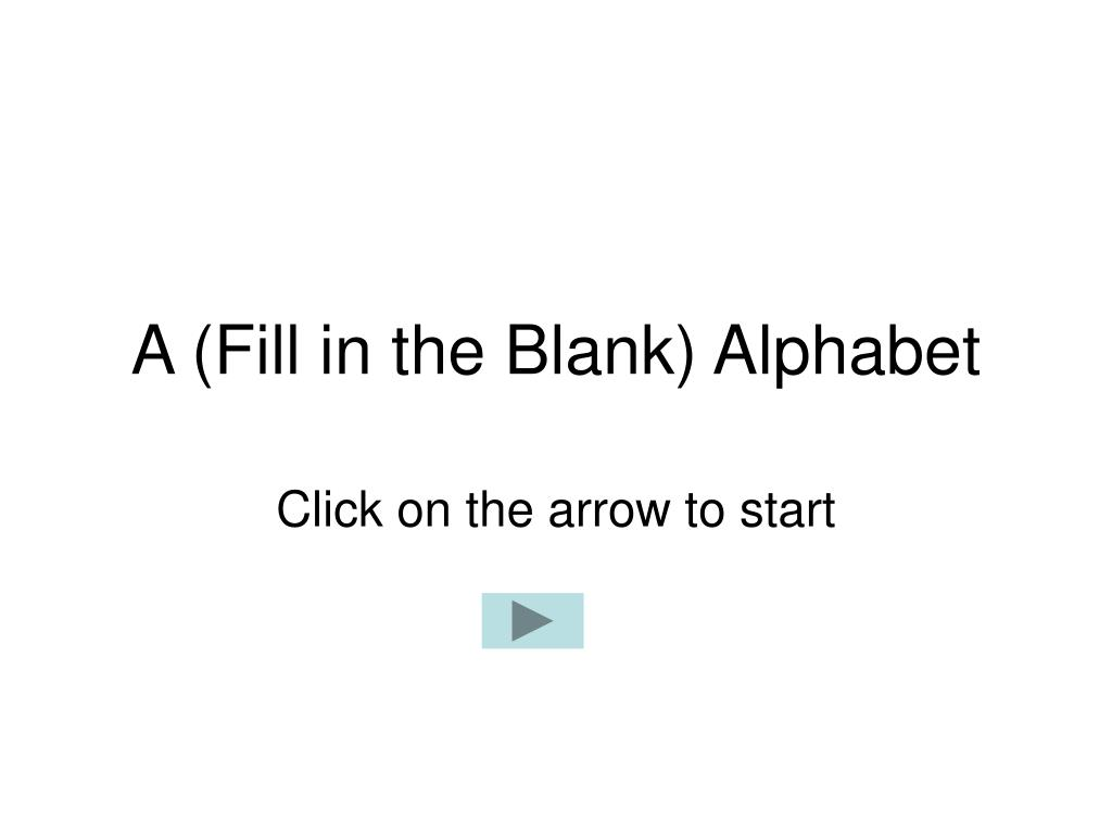 a fill in the blank alphabet l.