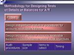 methodology for designing tests of details of balances for a r6