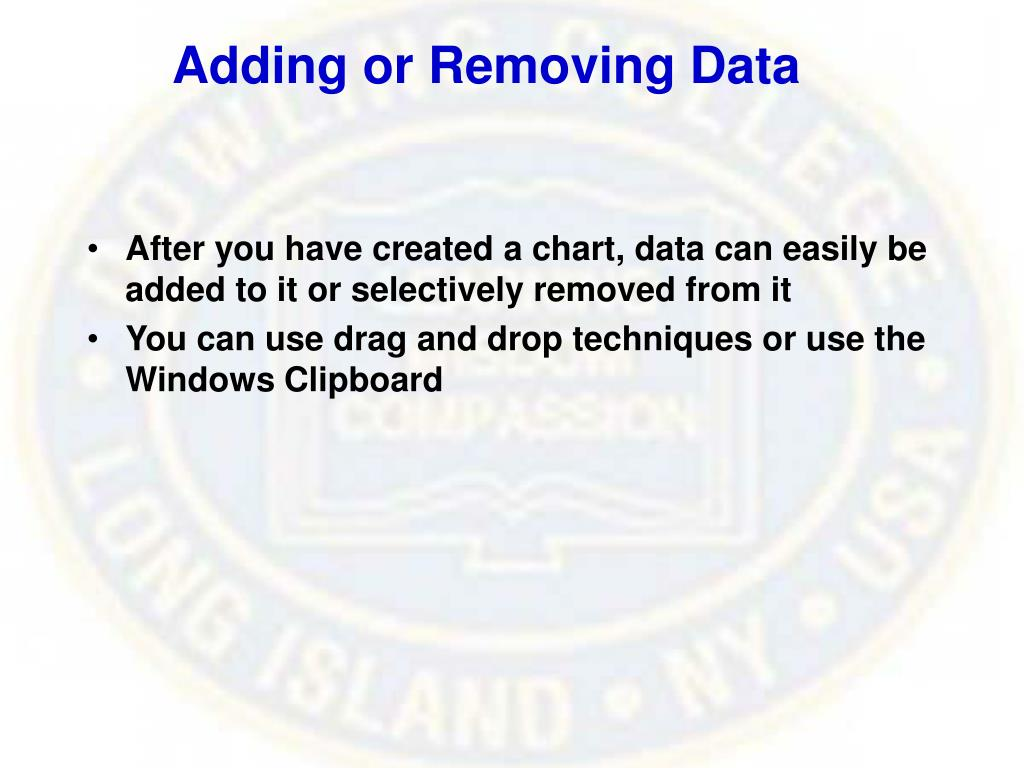Adding or Removing Data