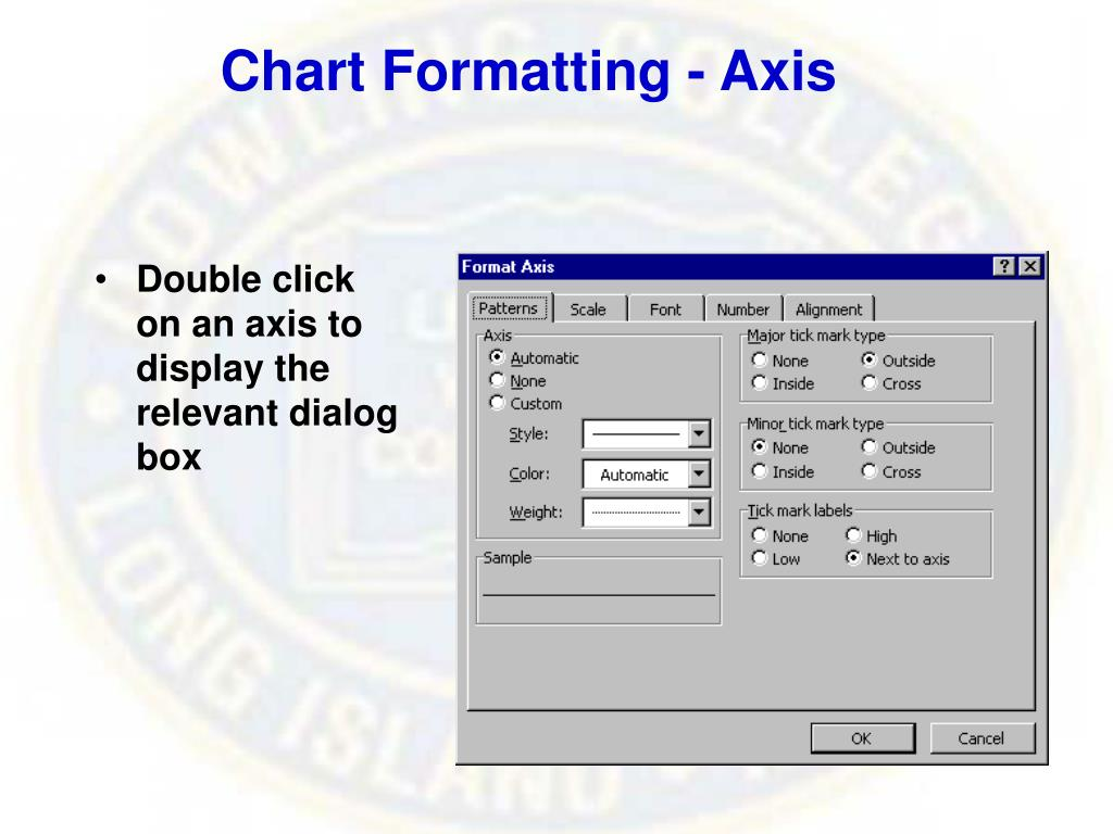 Chart Formatting - Axis