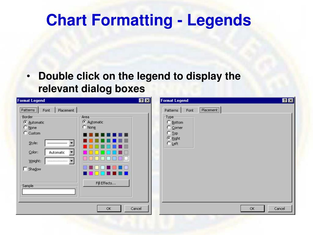 Chart Formatting - Legends