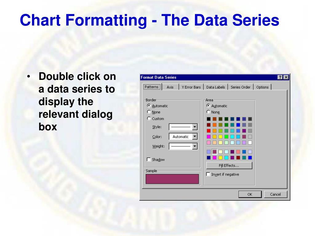 Chart Formatting - The Data Series