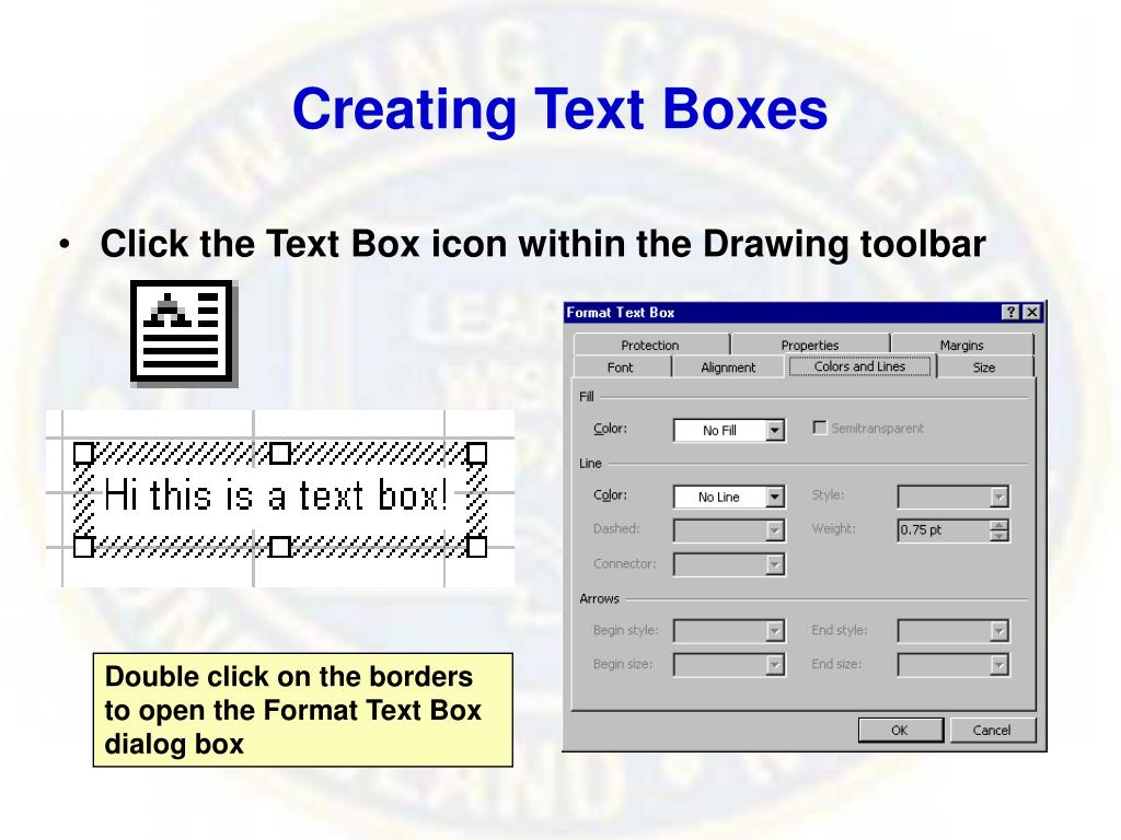 Creating Text Boxes